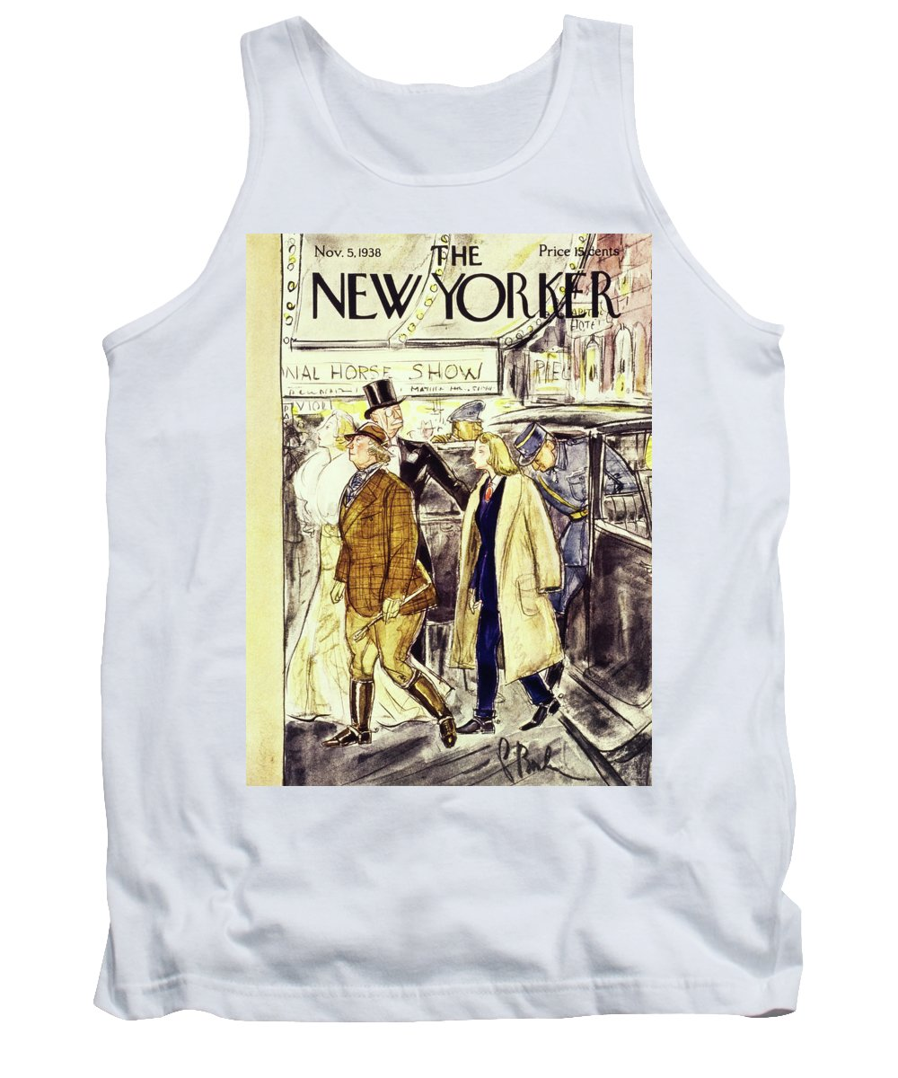 Illustration Tank Top featuring the painting New Yorker November 5 1938 by Perry Barlow