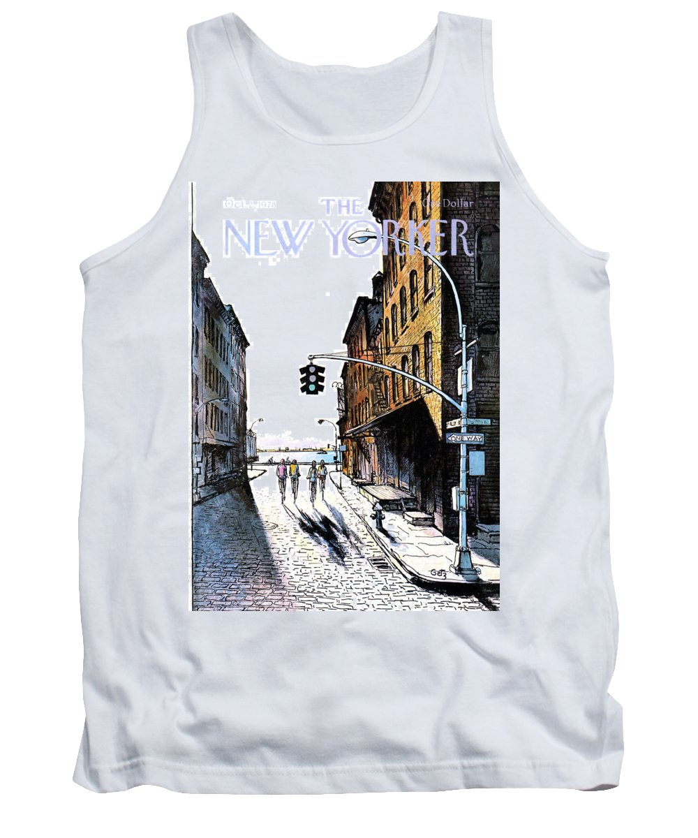 People Tank Top featuring the painting New Yorker October 2nd, 1978 by Arthur Getz