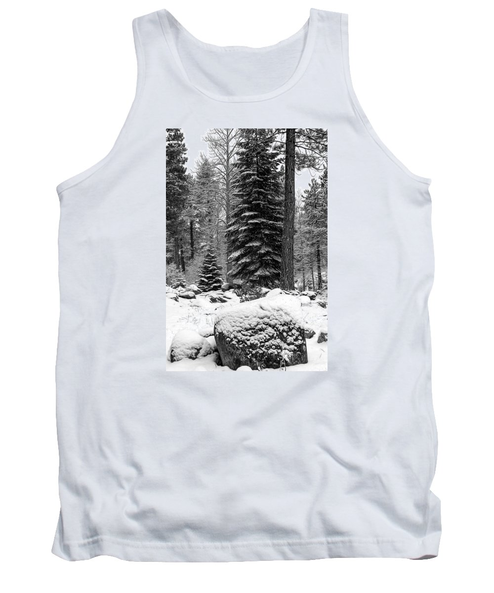 Background Tank Top featuring the photograph Next Season Christmas Trees by Maria Coulson