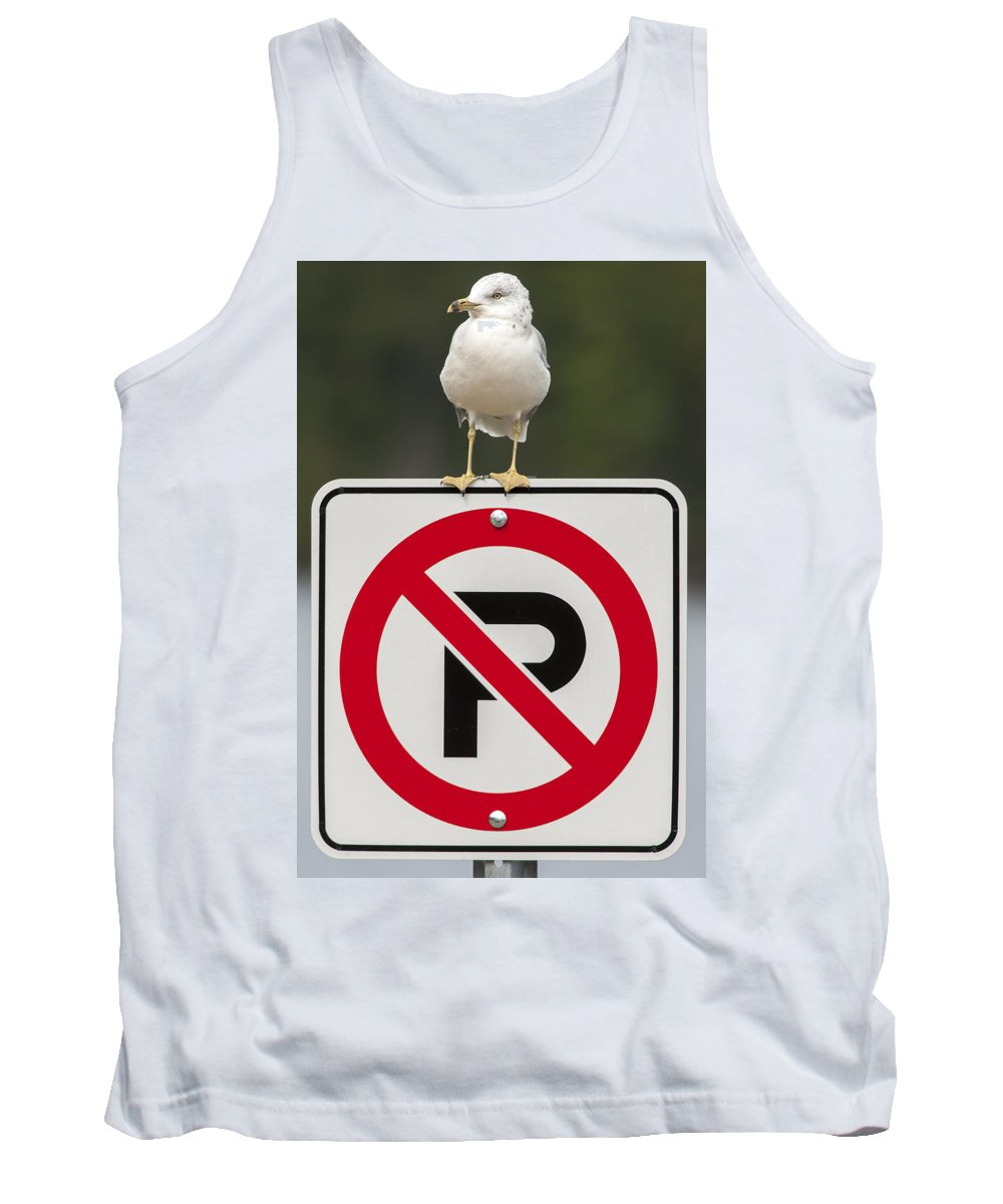 Bird Tank Top featuring the photograph No Parking by Richard Kitchen