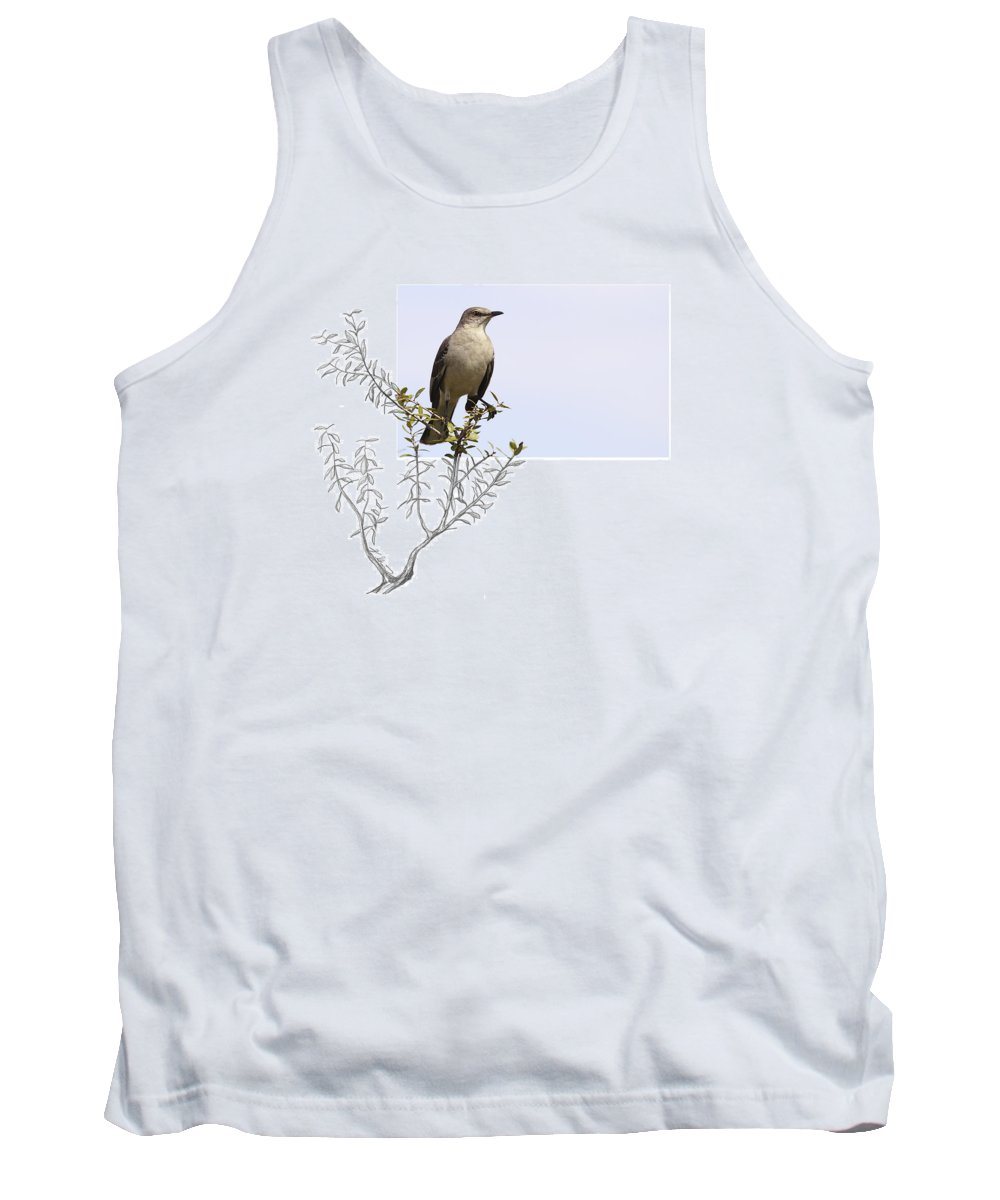 Northern Mockingbird Tank Top featuring the photograph Northern Mockingbird by Andrew McInnes