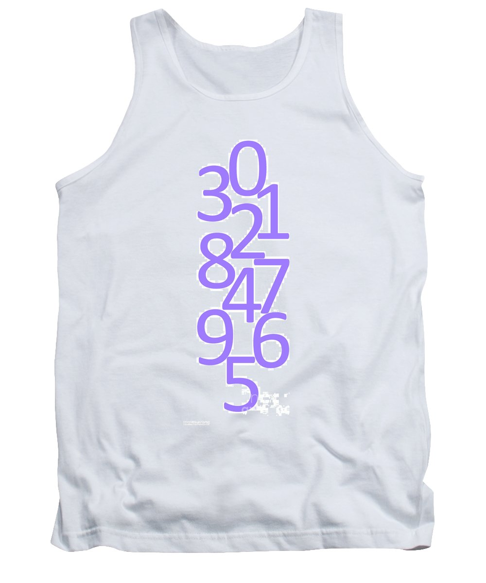 Numbers Tank Top featuring the digital art Numbers In Purple by Jackie Farnsworth