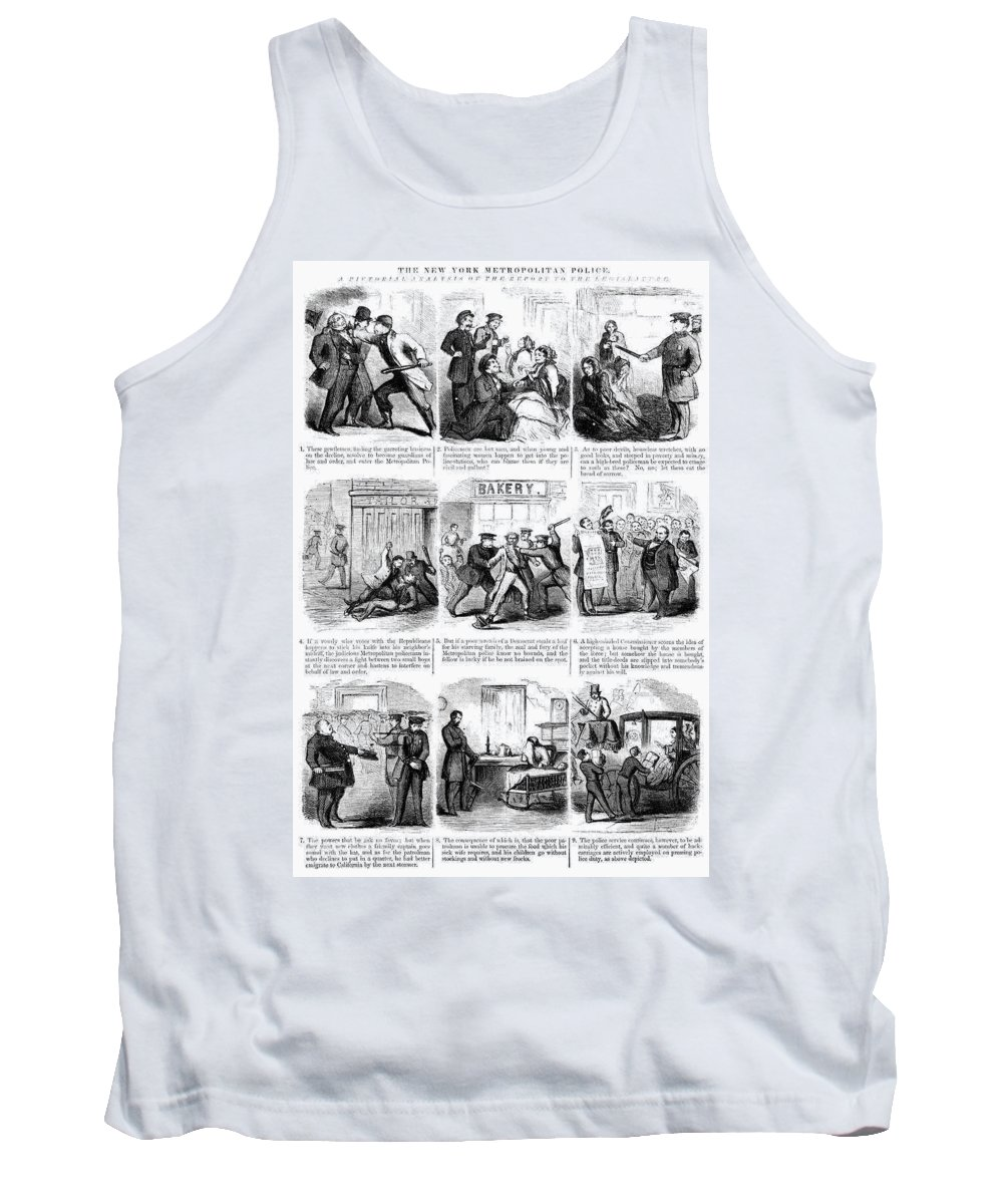 1859 Tank Top featuring the drawing Nyc Police, 1859 by Granger
