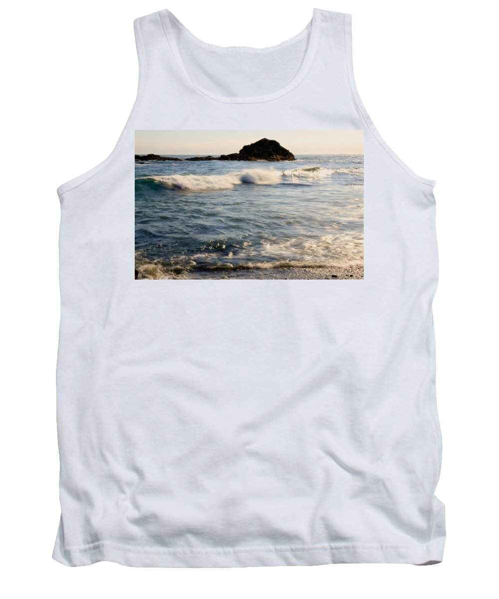Ocean Tank Top featuring the photograph Ocean Waves by Athena Mckinzie