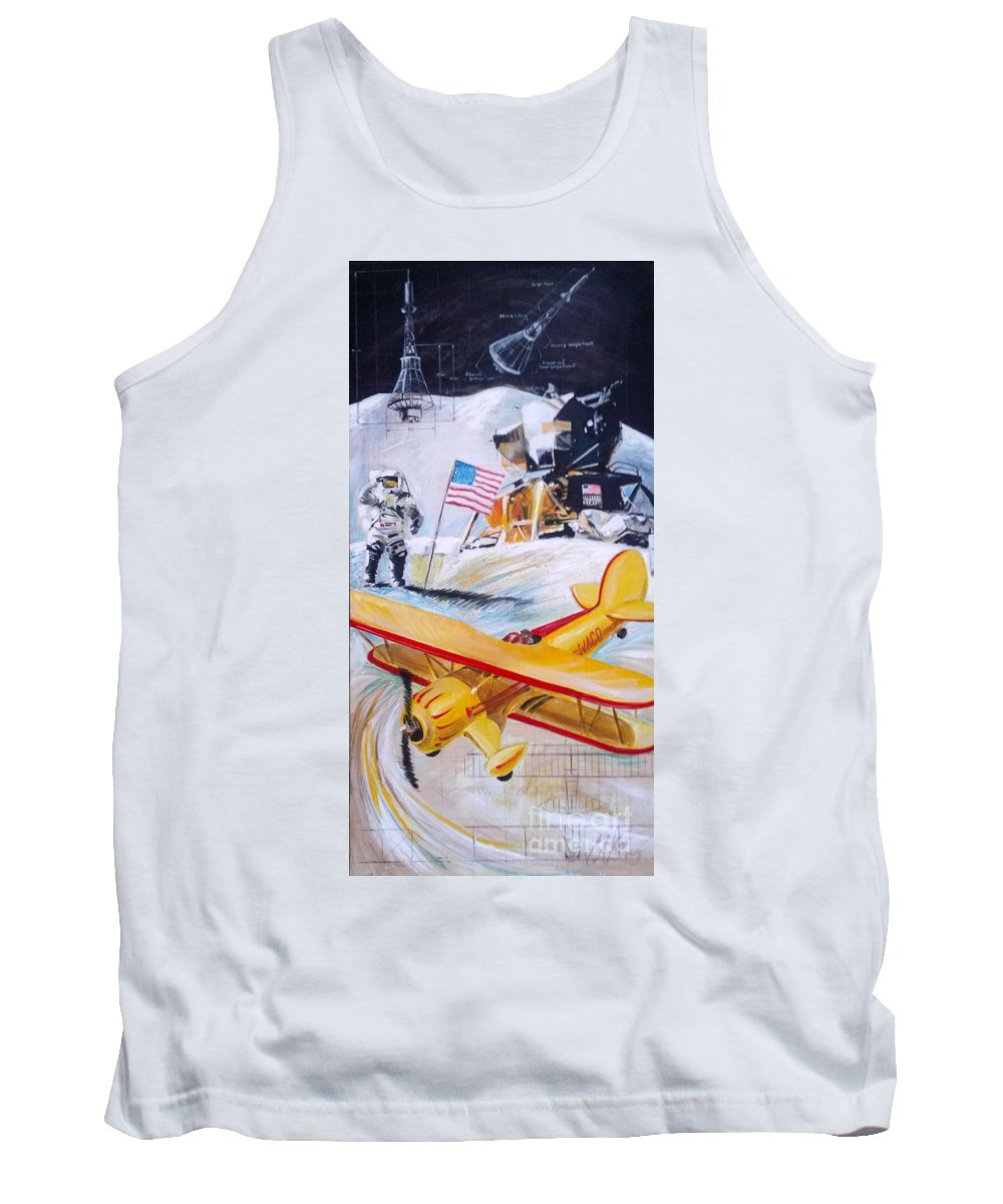 Aviation Tank Top featuring the painting Ohio Aviation by William III