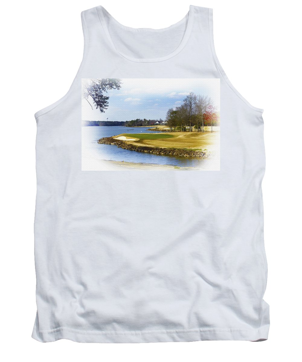 Canada Tank Top featuring the digital art Old Carolina Golf Club by Don Kuing