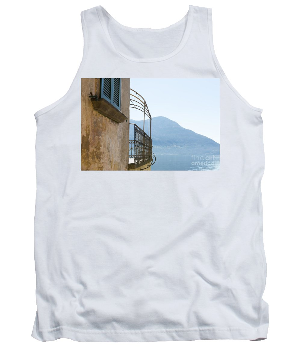 House Tank Top featuring the photograph Old House With Lake View by Mats Silvan