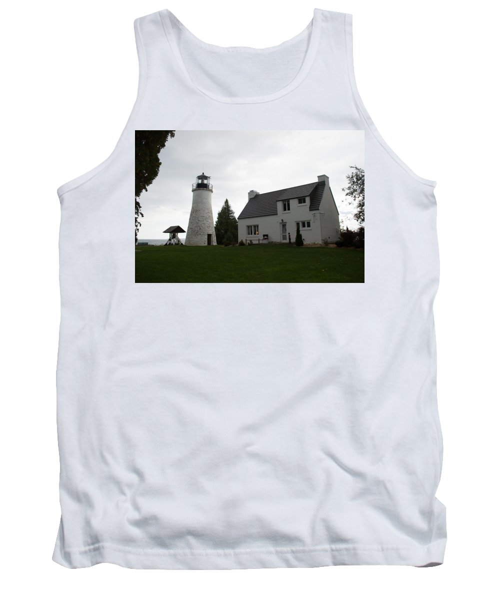 Lake Huron Tank Top featuring the photograph Old Light by Linda Kerkau