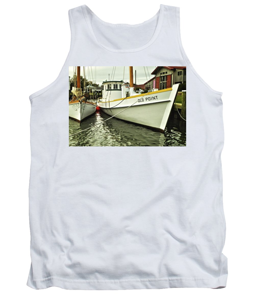 Maryland Tank Top featuring the photograph Old Point St. Michaels by Re Dub