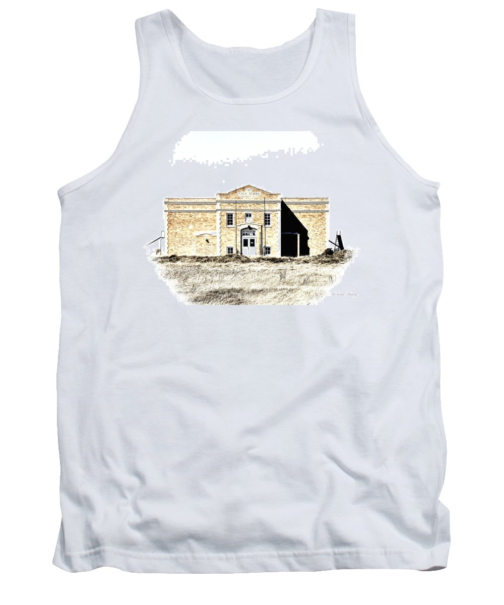Montana Tank Top featuring the photograph Old School II by Susan Kinney