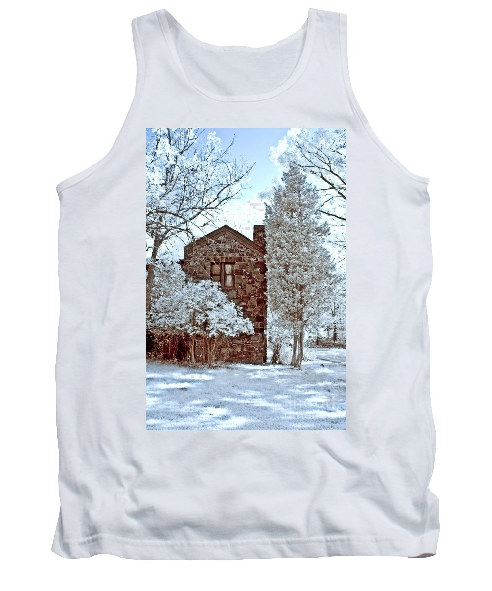 Trees Tank Top featuring the photograph Old Stone House by Anthony Sacco