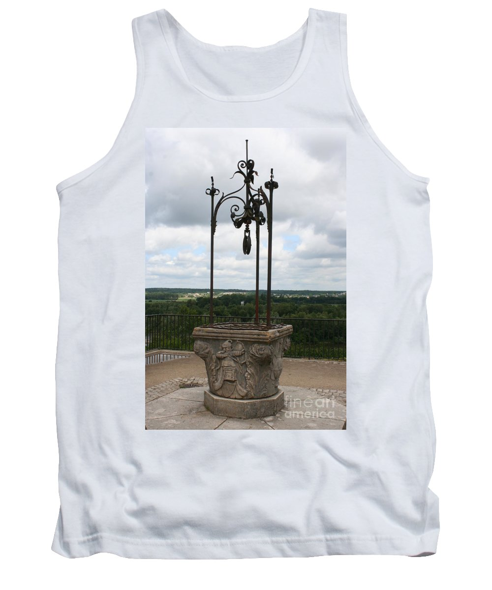 Well Tank Top featuring the photograph Old Well Chateau Chaumont by Christiane Schulze Art And Photography
