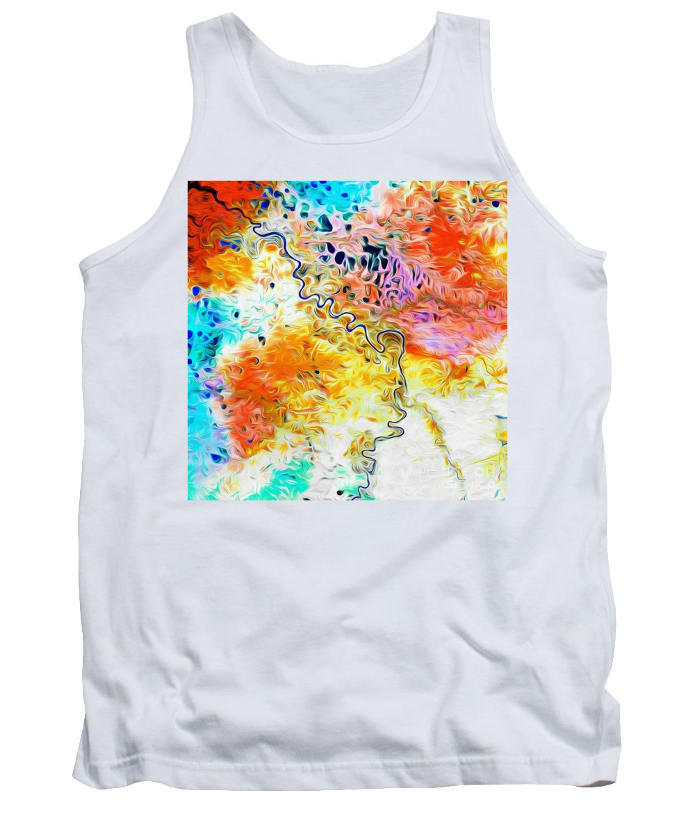 Omoloy River Tank Top featuring the digital art Omoloy River Tributaries by Phill Petrovic