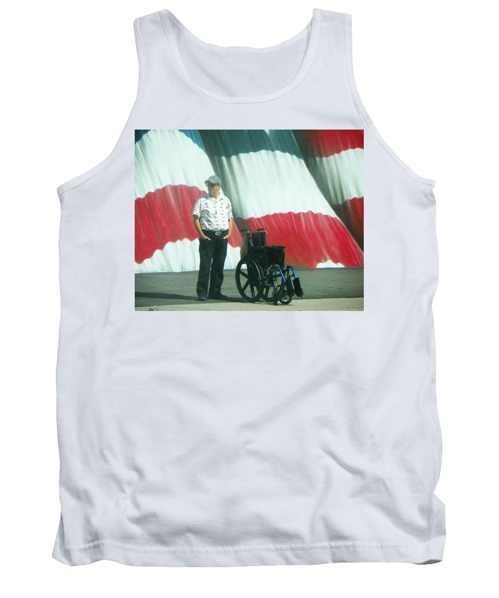Abstract Tank Top featuring the photograph On American Streets by Lenore Senior