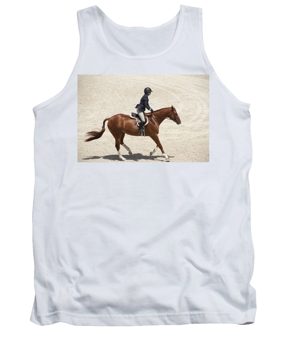 Horse Tank Top featuring the photograph On The Flat by Alice Gipson