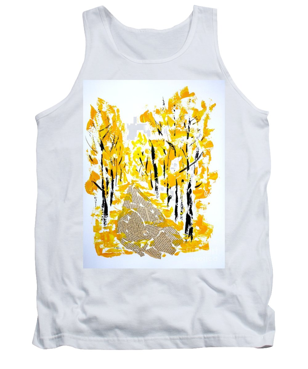 Mixed-media Tank Top featuring the painting On The Way To School by Cristina Stefan