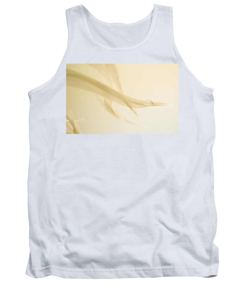Feather Tank Top featuring the photograph One Drop Of Water by Bob Orsillo