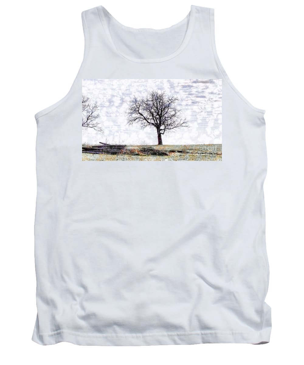 Only The Lonely Tank Top featuring the photograph Only The Lonely by Liane Wright