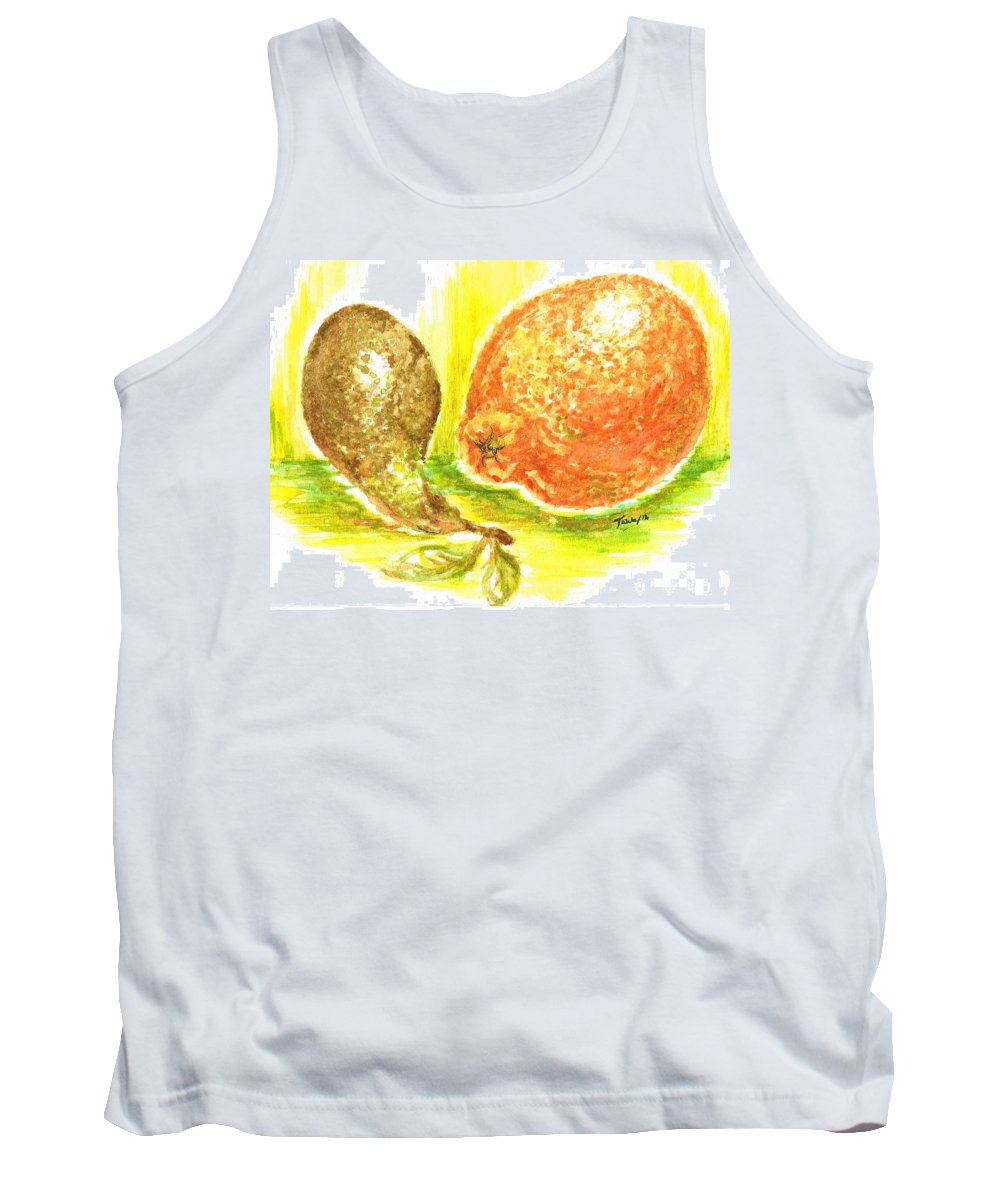 Teresa Tank Top featuring the painting Oranges And Pears by Teresa White