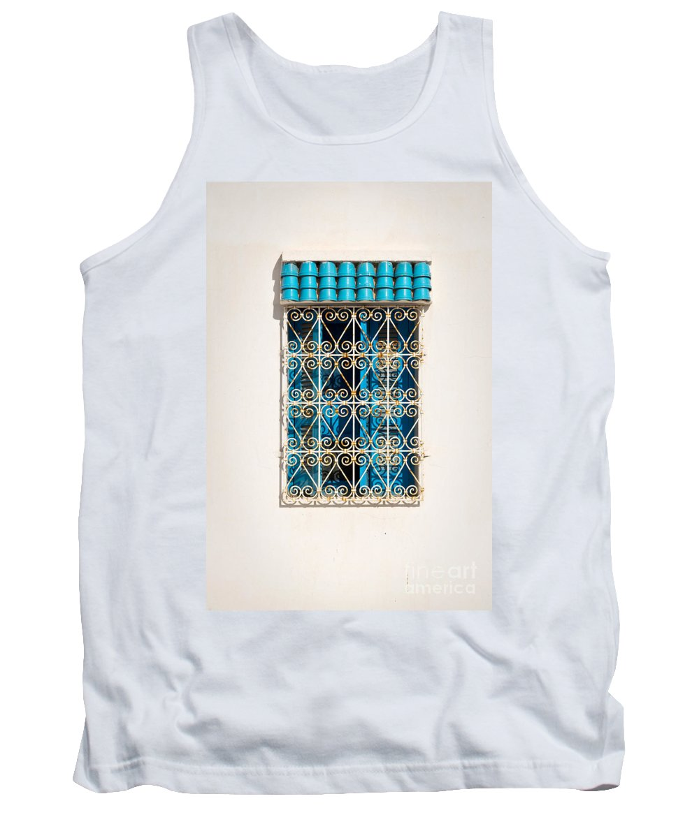 Window Tank Top featuring the photograph Oriental Window by Delphimages Photo Creations