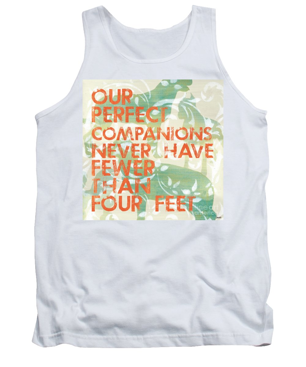 Inspirational Tank Top featuring the painting Our Perfect Companion by Debbie DeWitt