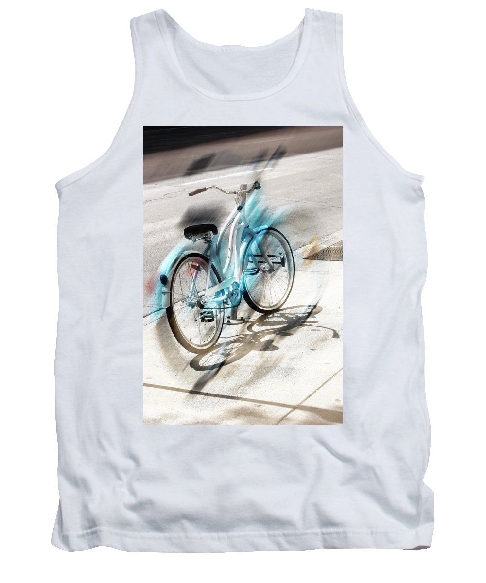 Bike Tank Top featuring the photograph Out On Marches by The Artist Project