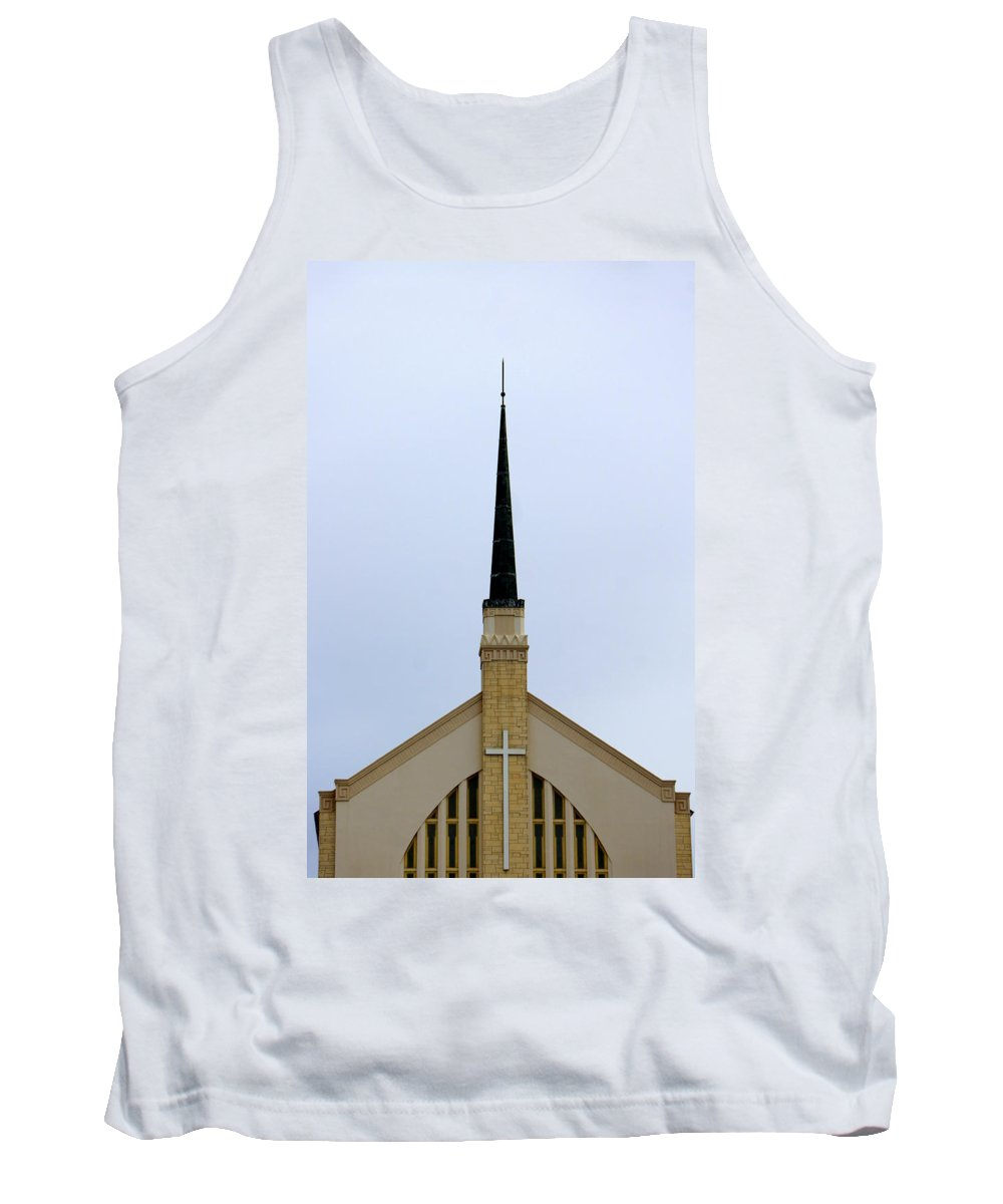 Church Tank Top featuring the photograph Overlooking Lake Morton by Laurie Perry