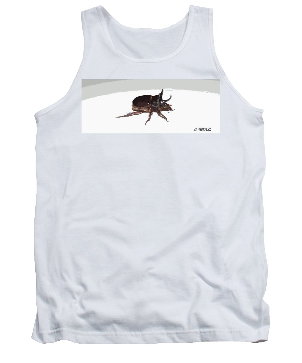Ox Beetle Tank Top featuring the photograph Ox Beetle Abstract by George Pedro