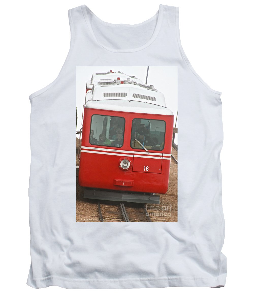 Train Tank Top featuring the photograph P P Cog Train by Susan Herber