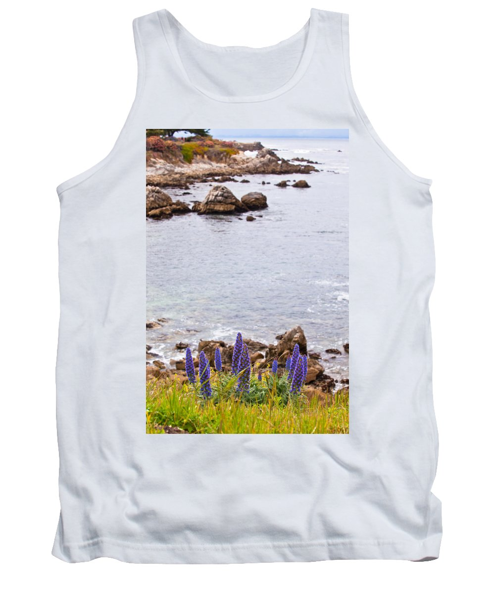 Shoreline Tank Top featuring the photograph Pacific Grove Coastline by Melinda Ledsome