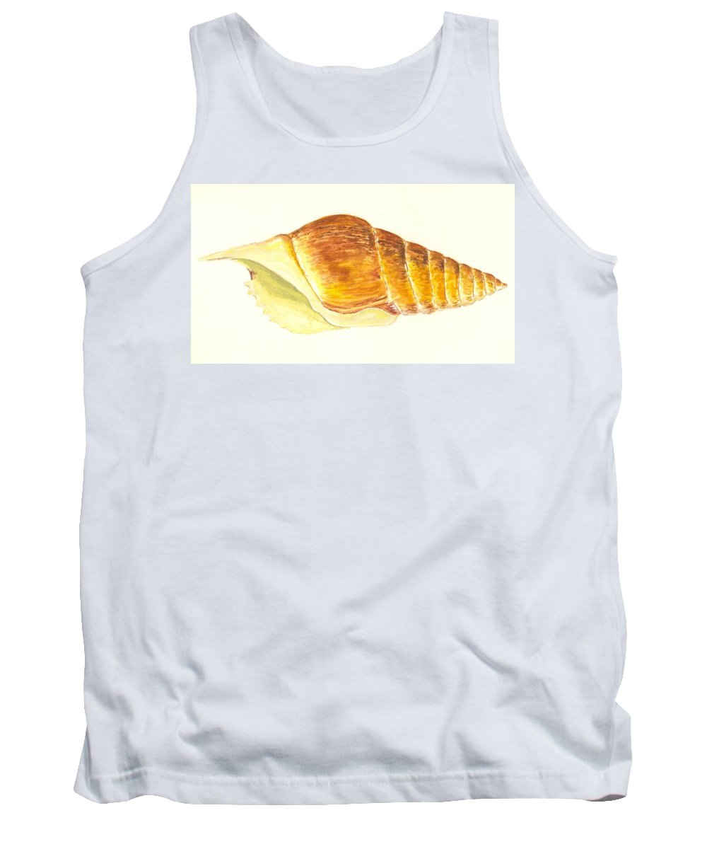 Sea Tank Top featuring the painting Pacific Triton Sea Shell by Michael Vigliotti