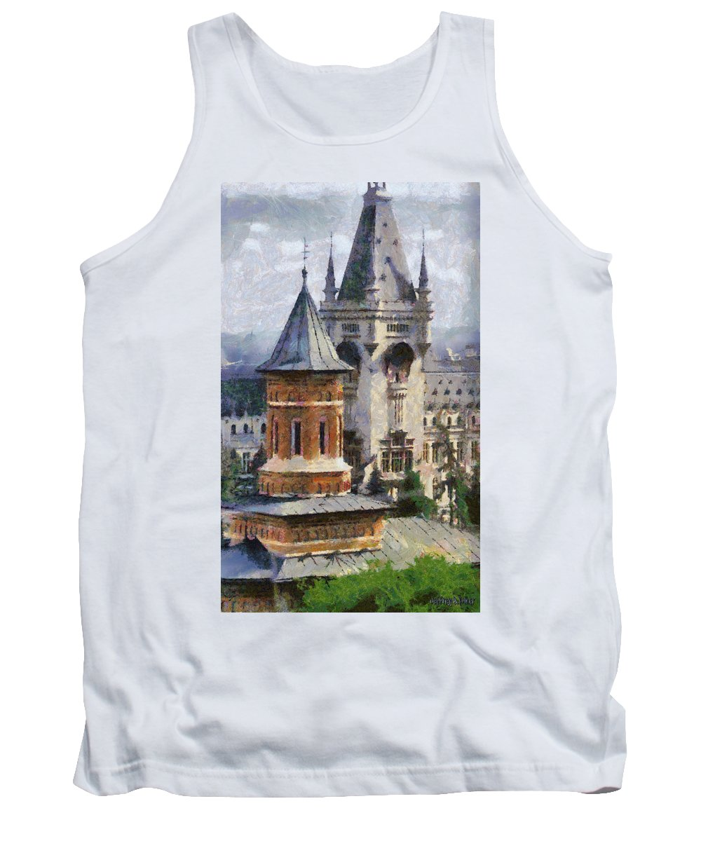 Chapel Tank Top featuring the painting Palace Of Culture by Jeffrey Kolker