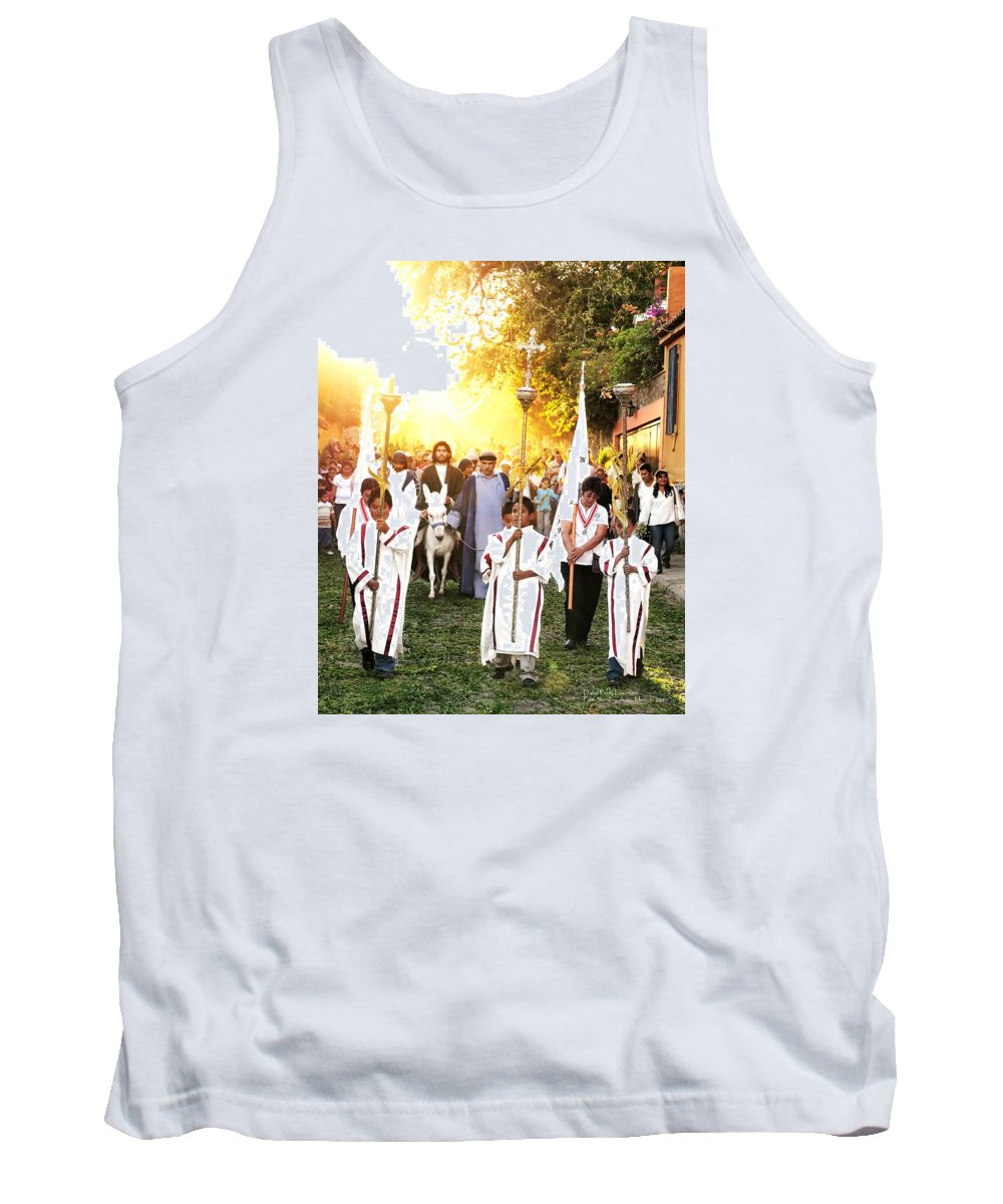 Mexico Tank Top featuring the photograph Palm Sunday - Mexico by David Perry Lawrence
