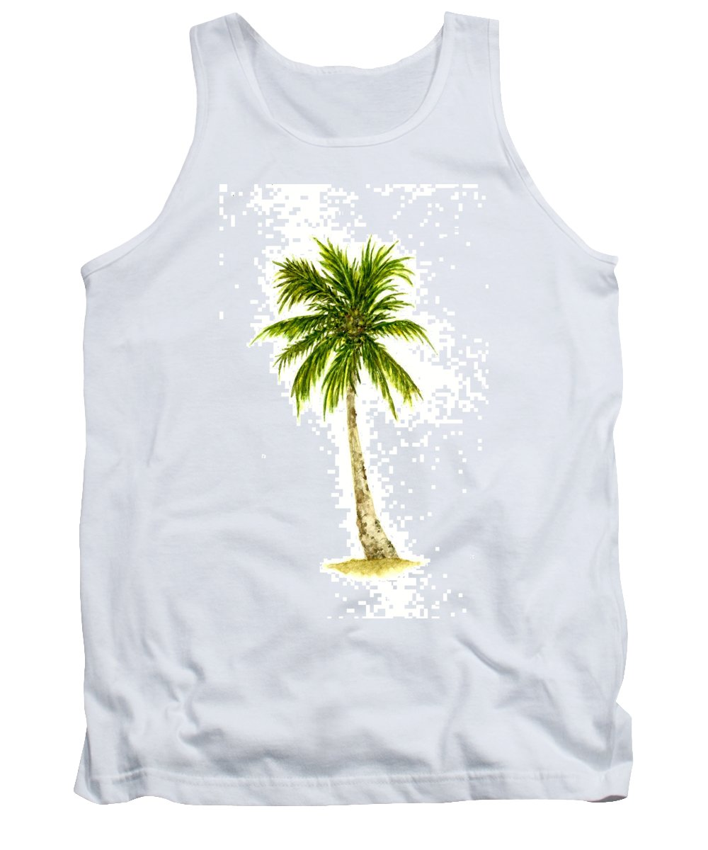 Tree Tank Top featuring the painting Palm Tree Number 4 by Michael Vigliotti