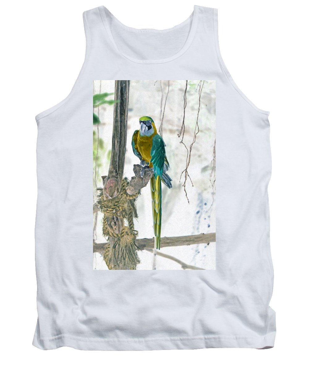 Parrot Tank Top featuring the photograph Paradise - Photopower 03 by Pamela Critchlow