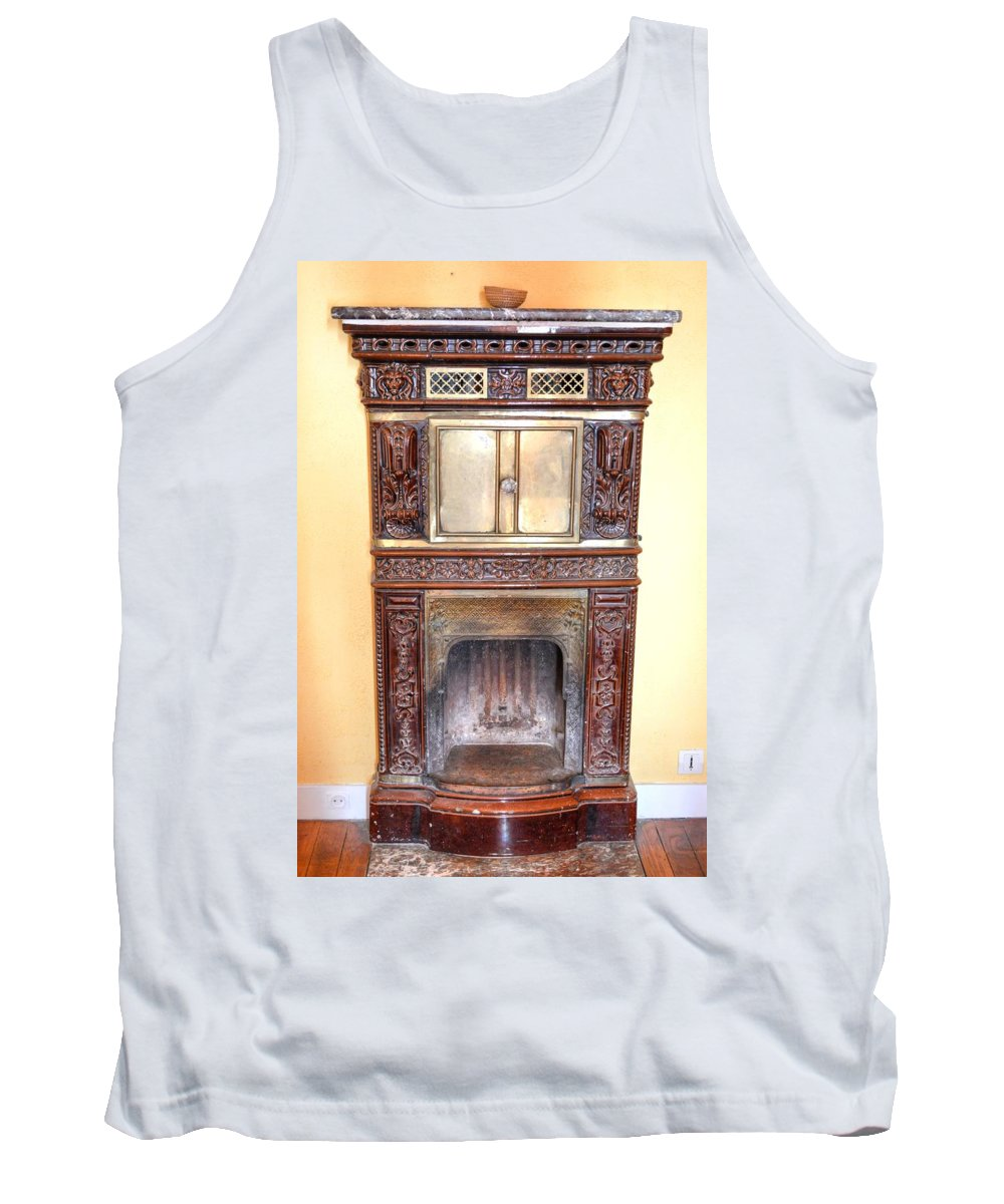 Paris Tank Top featuring the photograph Paris Fireplace by Linda Covino