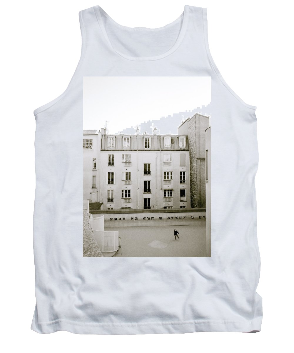 Solitude Tank Top featuring the photograph Solitude In Paris by Shaun Higson