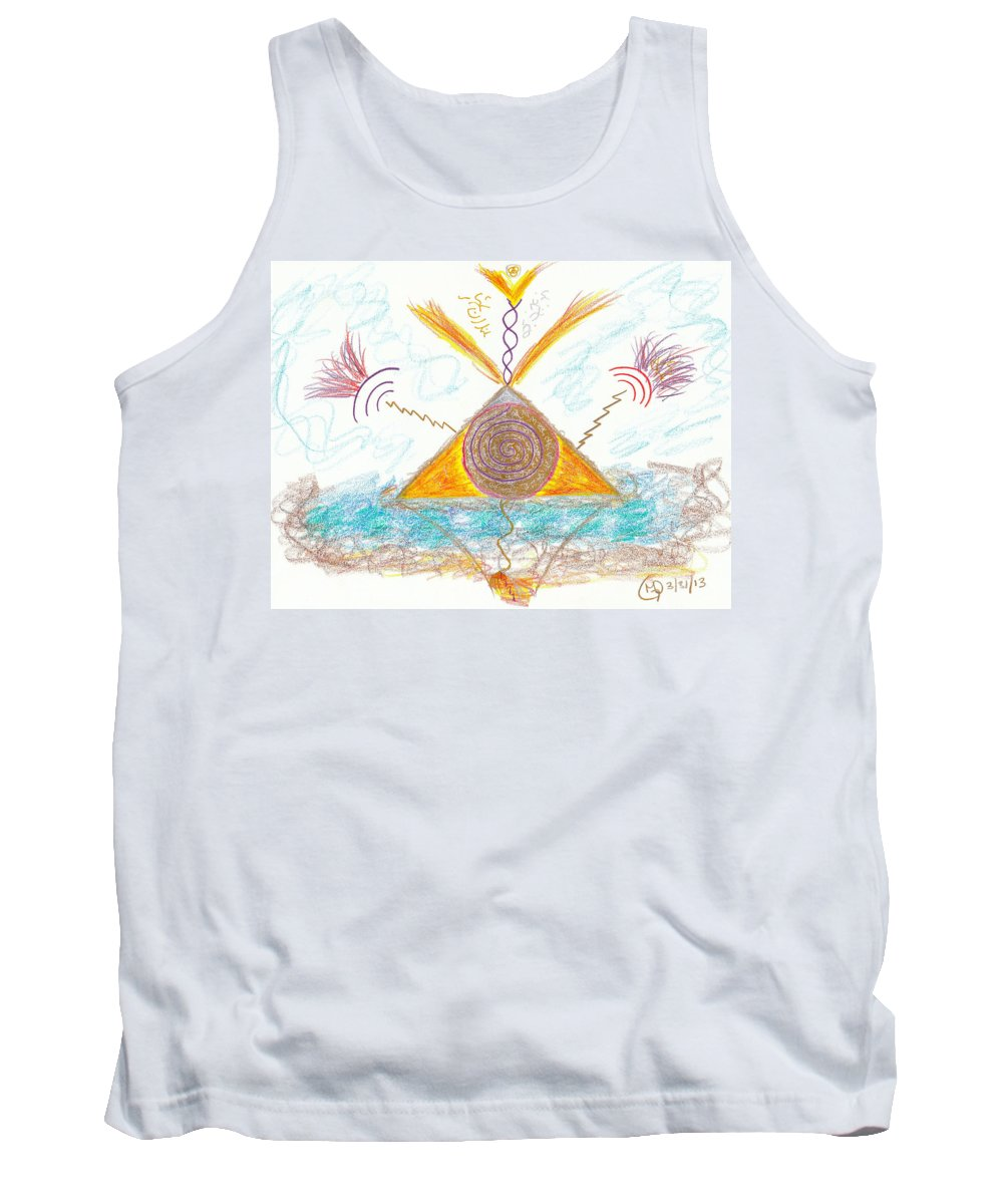 Abstract Tank Top featuring the drawing Passionate Path - Passionate Purpose by Mark David Gerson