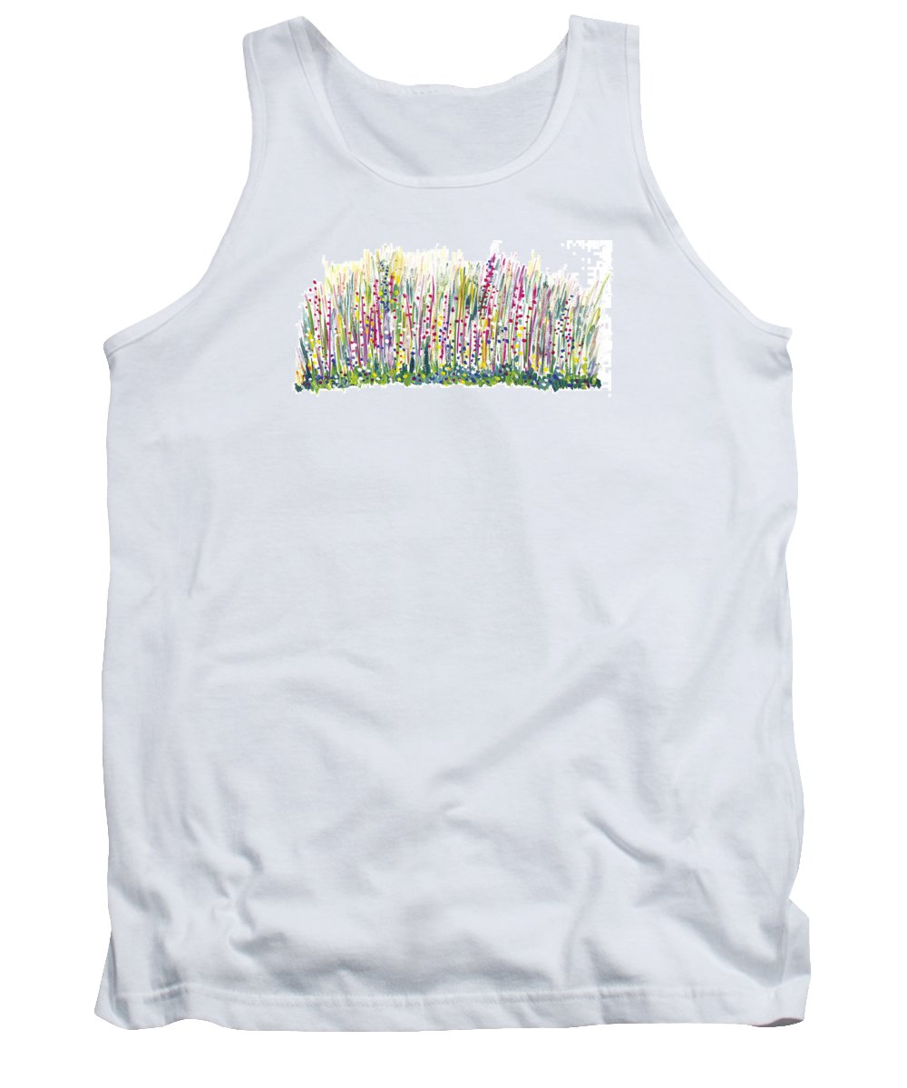 Spring Tank Top featuring the painting Pastel by Bjorn Sjogren