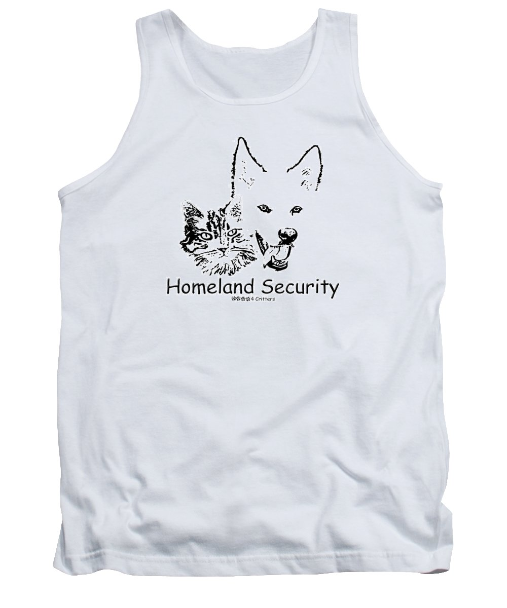 Homeland Security Tank Top featuring the photograph Paws4critters Homeland Security by Robyn Stacey