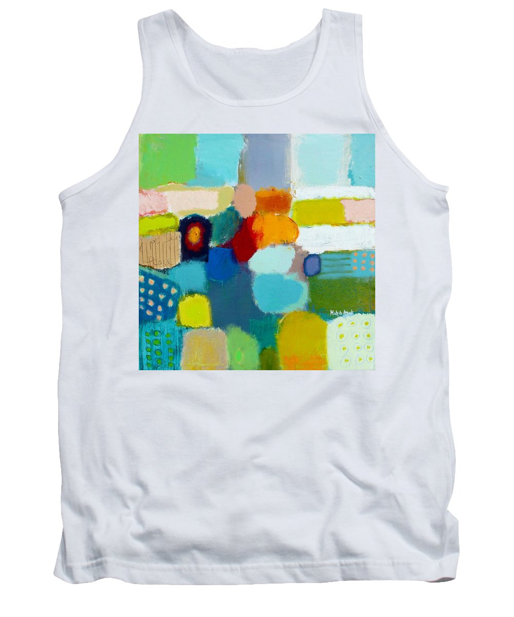 Peace Tank Top featuring the painting Peace And Joy 3 by Habib Ayat