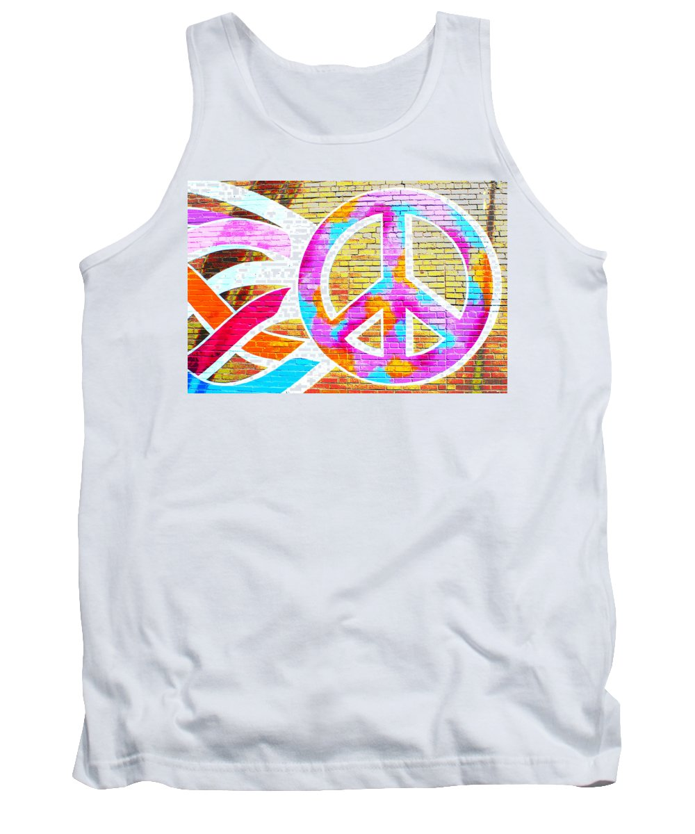 Peace Tank Top featuring the photograph Peace Out by Jeff Mize