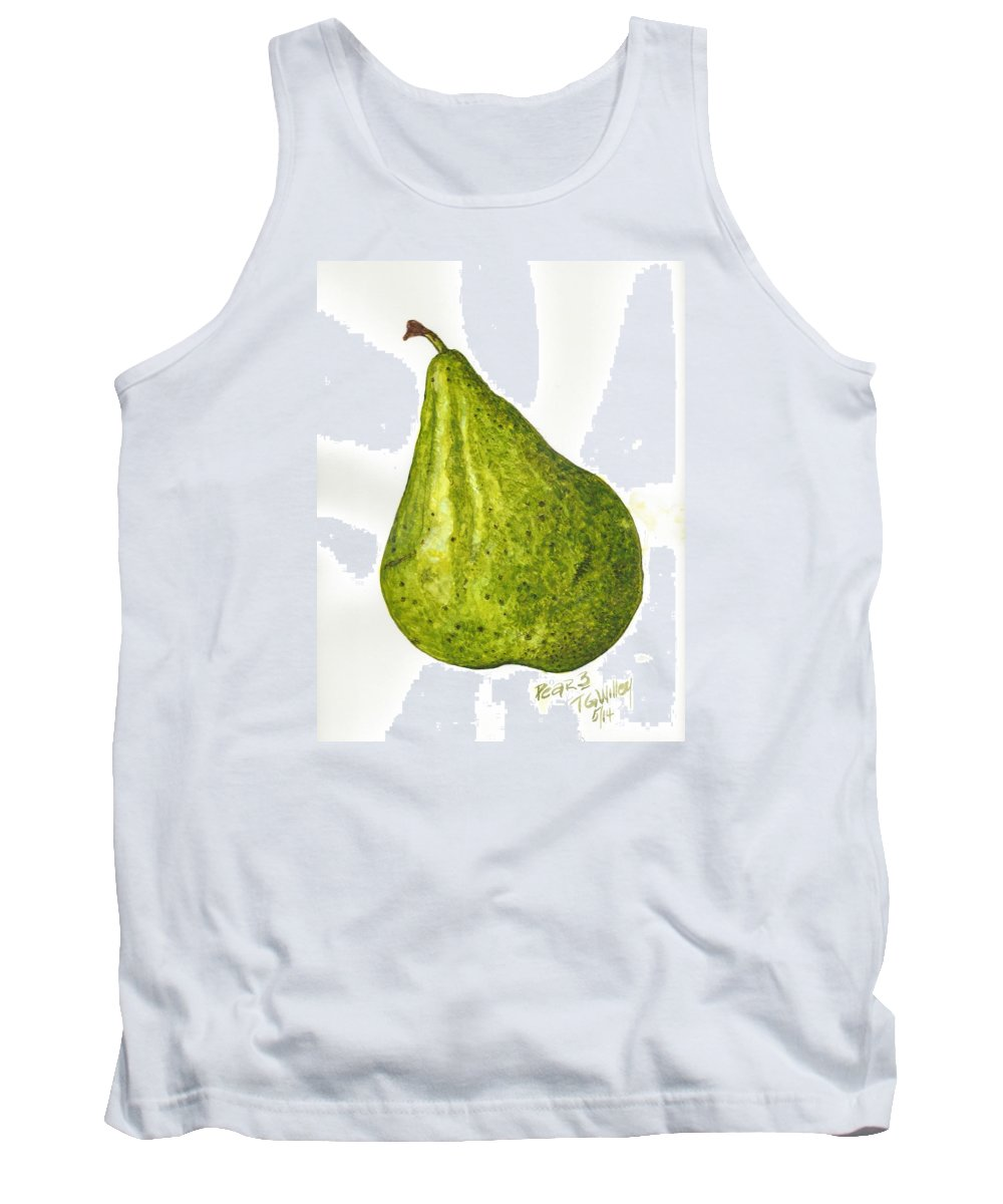 Fruit Tank Top featuring the painting Pear Study#3 by Toni Willey