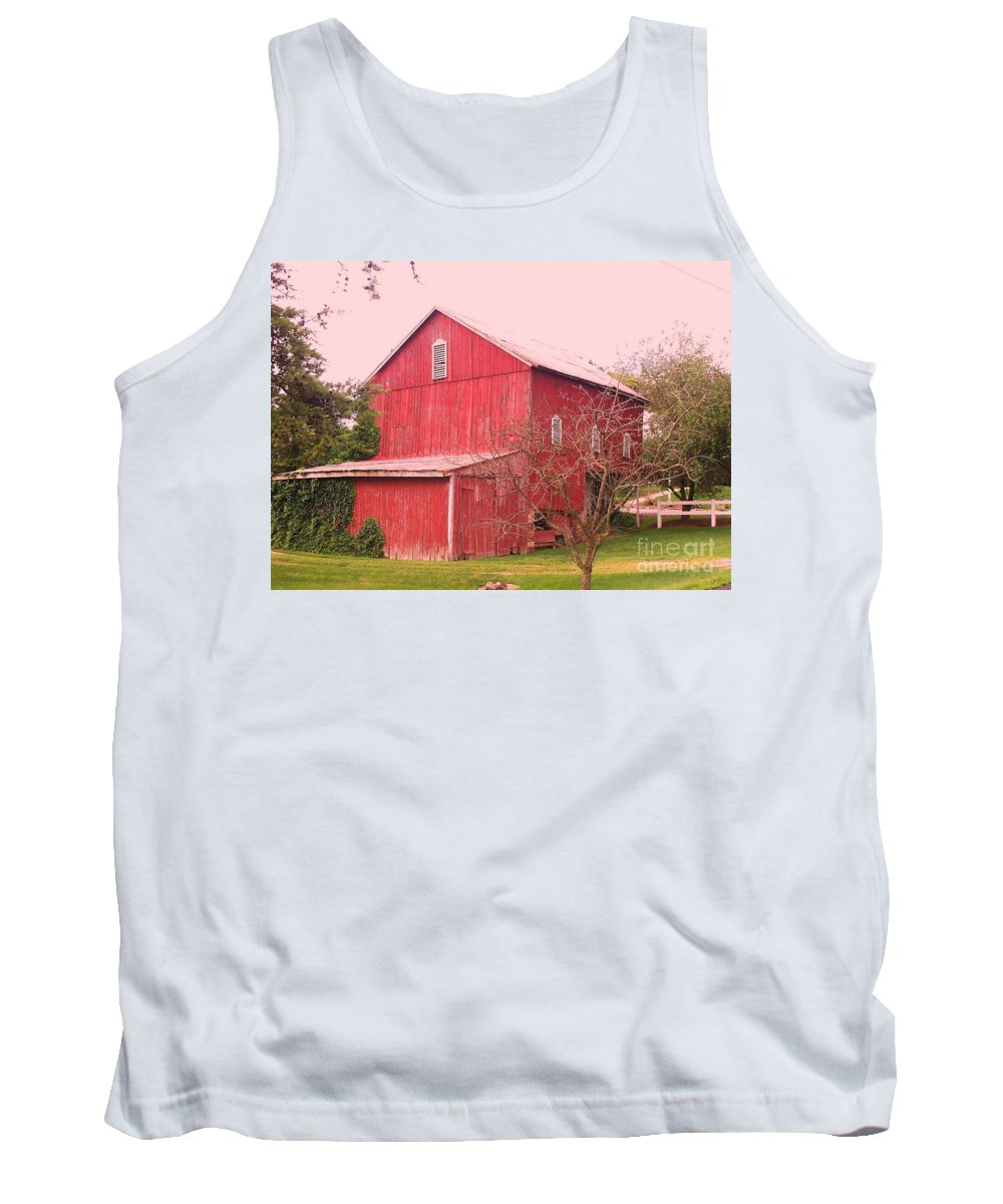 Pennsylvania Tank Top featuring the photograph Pennsylvania Barn Cira 1700 by Eric Schiabor