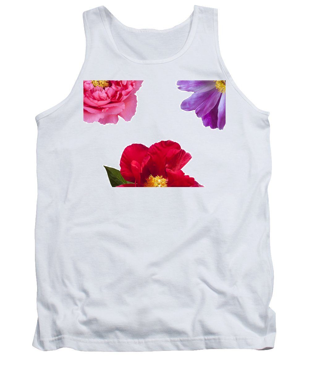 Peony Tank Top featuring the photograph Peonies by Charles Harden