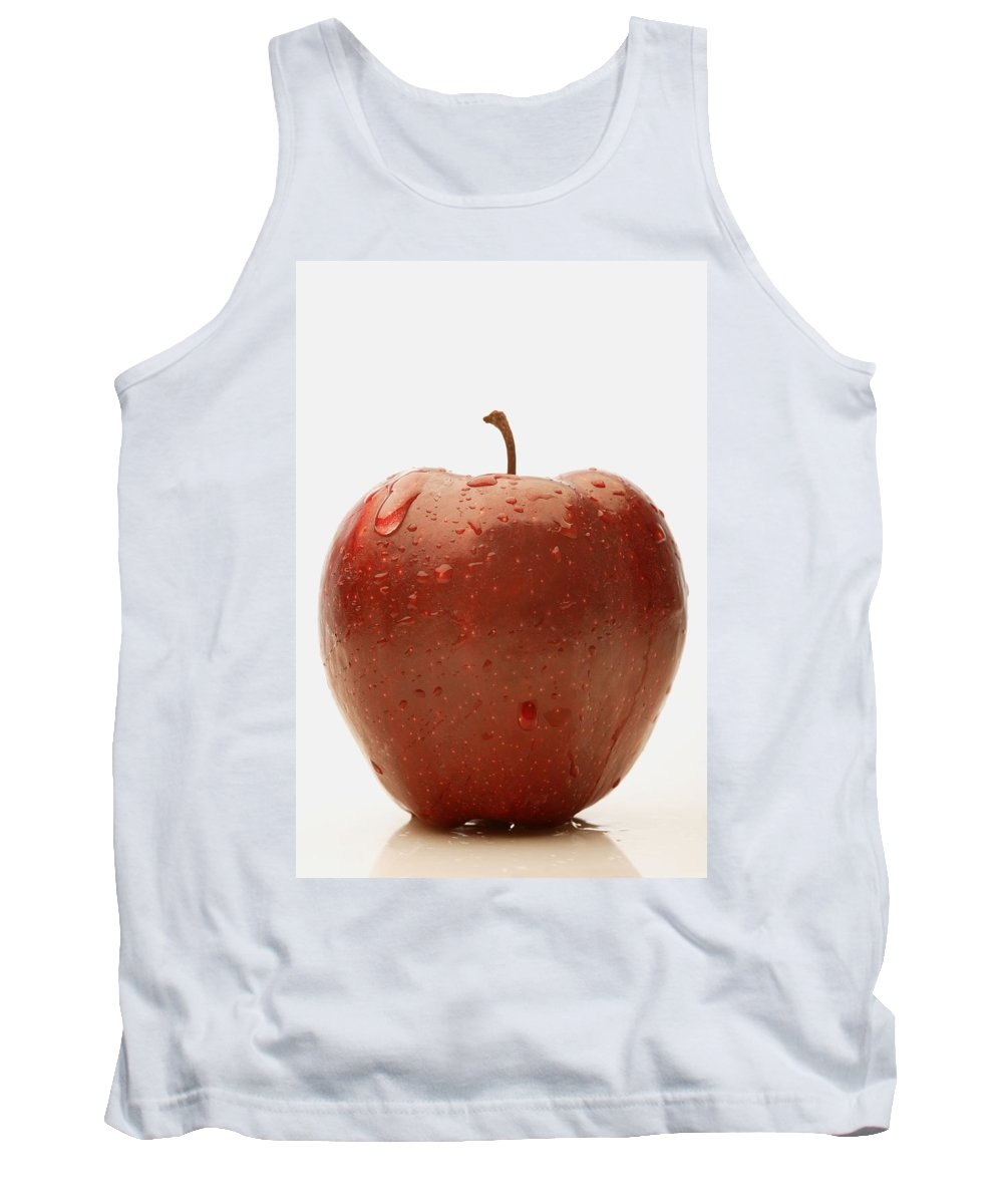 Condensation Tank Top featuring the photograph Perfect Red Apple by Darren Greenwood