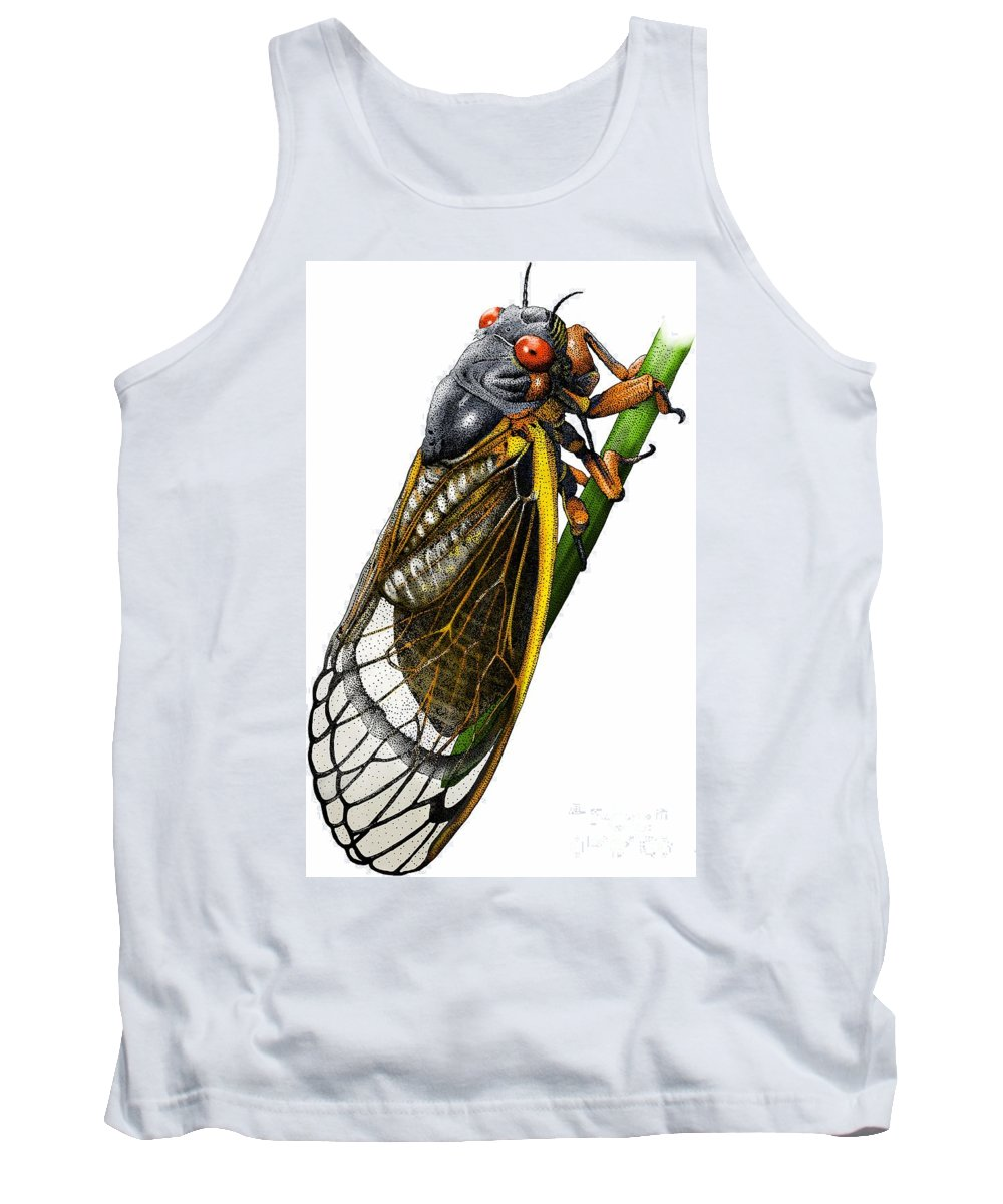 Animal Tank Top featuring the photograph Periodical Cicada by Roger Hall