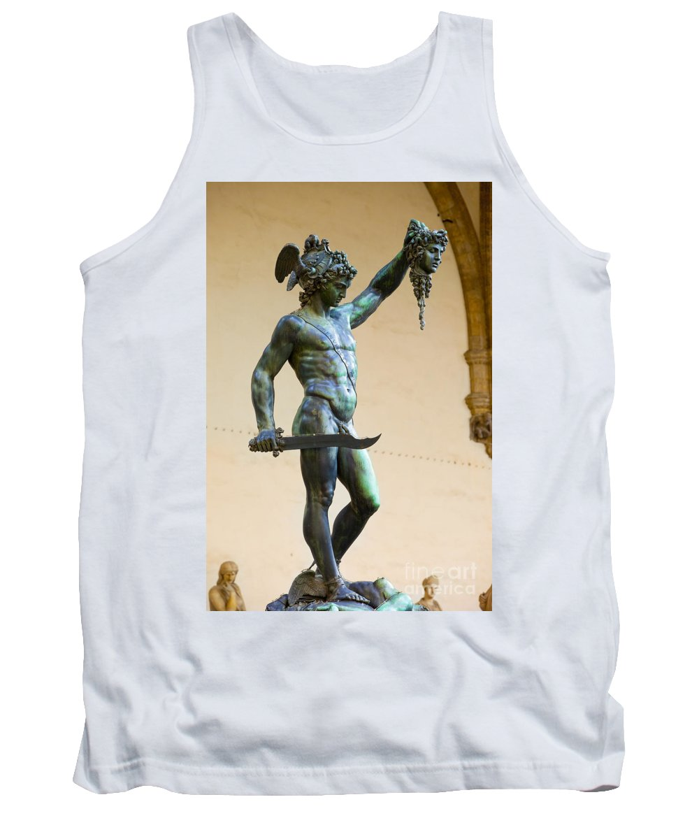 Cellini's Tank Top featuring the photograph Perseus And Medusa by Brian Jannsen
