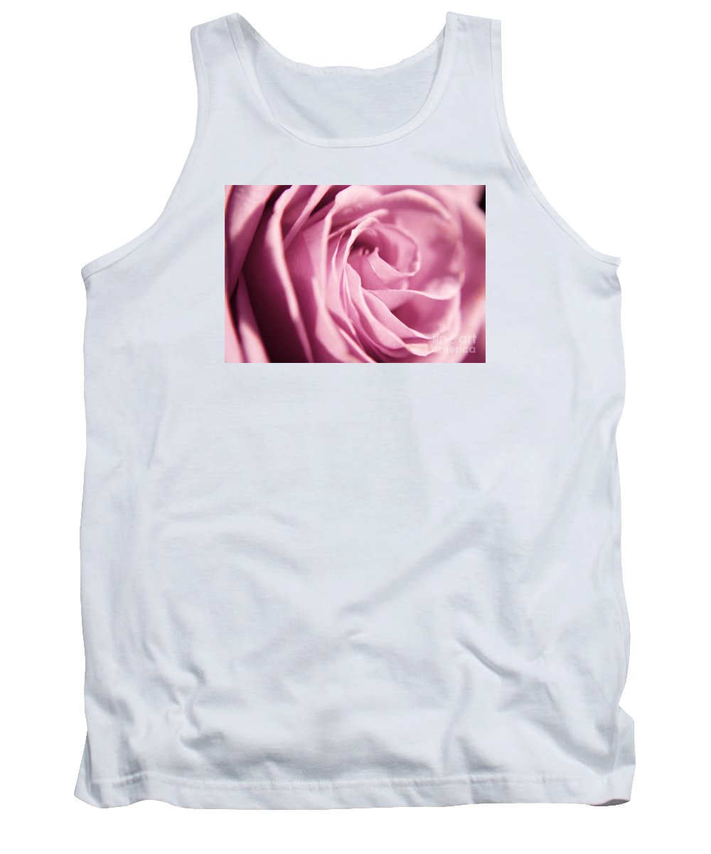 Rose Tank Top featuring the photograph Petal Folds by Robin Lynne Schwind