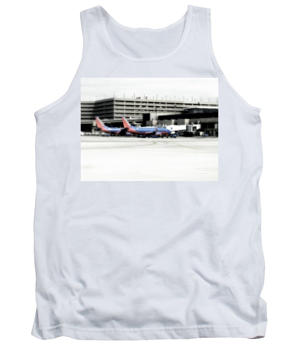 Phoenix Tank Top featuring the photograph Phoenix Az Southwest Planes by Thomas Woolworth